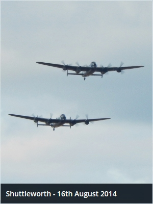 The CWHM and RAF BBMF Lancasters at Shuttleworth Flying Proms