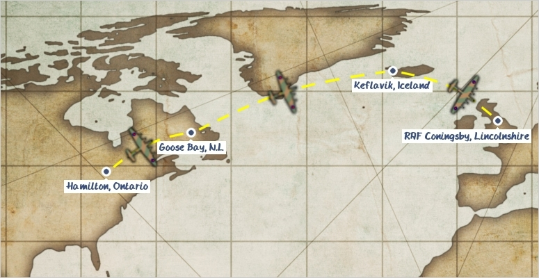 Map of VeRAs journey to the UK