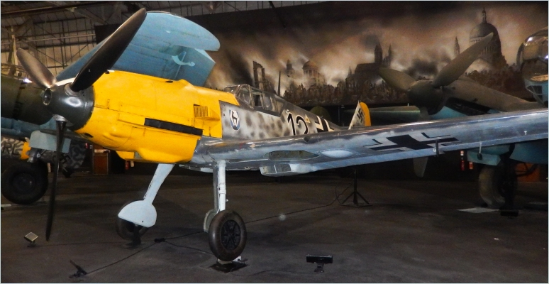 The Messerschmitt Bf 109 was the main Luftwaffe fighter used during the battle. Pictured is a E-3 variant