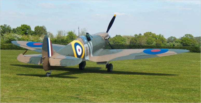 Supermarine Spitfire Mk IA - This variant was extensively used during the battle